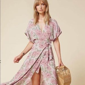 Reformation Wooster Dress (rose print)